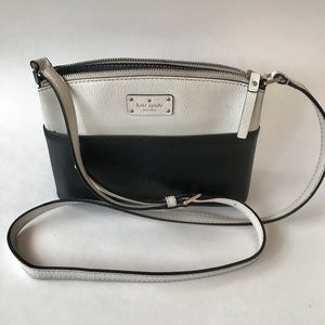 Kate Spade Black and White Crossbody Bag